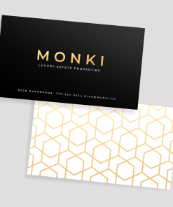 Foil peachy soft touch business cards 1