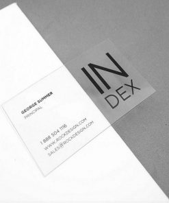synthetic durable business card 1