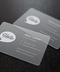 thick frost synthetic durable business card 1