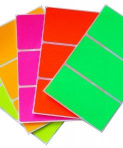 Permanent paper base fluorescent label 1