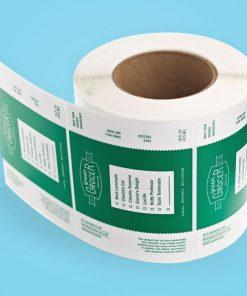 Permanent paper base matte label 1