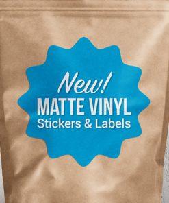 Removable paper base matte label